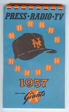 1957 New York Giants (Baseball) Press-Radio-TV Media Guide (Last Year in NY)