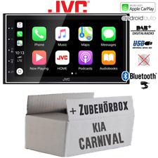 Radio JVC DAB+ Bluetooth Android Auto+Apple CarPlay Einbauset für Kia Carnival 1