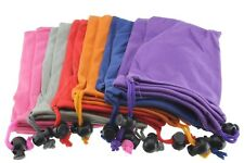 12ea Sunglass Bead Lock Microfiber Bag Soft Cleaning Case 9cm X 18cm Assorted