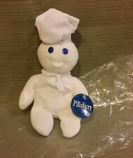 "Pillsbury Doughboy Plush Bean Doughboy Advertising Promo w/Mint Tags 8 1/2""  NEW"