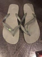 Mens Havaianas Brazil flip flops Grey Size 45-46