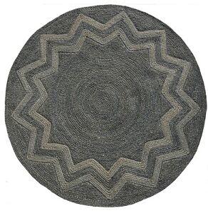"6x6 Vintage Handmade Turkish Oushak Geometric Round Area Rug 72""x72"""