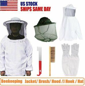 BeeKeeping Tool Jacket with Veil/ Brush/ Hood /J Hook /Beekeeping Hat Protector