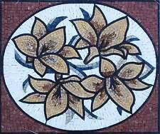 "24"" Handmade Colorful Floral Vase Kitchen Backsplash Home Marble Mosaic Art Ston"