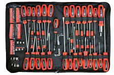 100 PC  Rolson Tools Piece Screwdriver Bit Set Kit Torx Precision Phillips Pouch