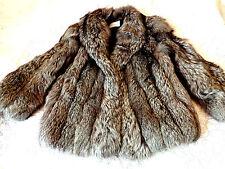 Royal Images Silver Fox Fur Coat Jacket Stroller Full Pelts Sz M Solids - Large
