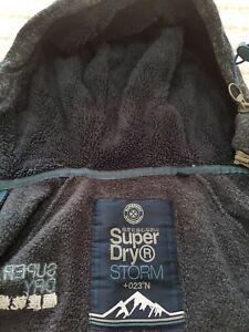 Superdry men's storm double zip hoodie - small