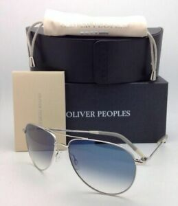 Photochromic OLIVER PEOPLES Sunglasses BENEDICT OV 1002-S 52413F Silver w/ Blue