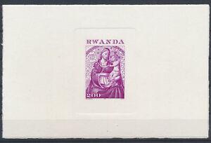 LN49354 Rwanda religious art paintings imperf sheet MNH