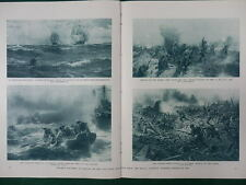 1917 ART IN WAR TIME ROYAL ACADEMY ULSTER DIVISION SOMME WWI WW1 DOUBLE PAGE