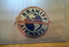 VINTAGE AIRLINE LUGGAGE DECAL:  BRANIFF INTERNATIONAL AIRWAYS NOS