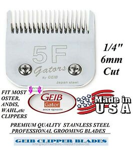 GEIB GATOR 5F BUTTERCUT STAINLESS STEEL BLADE*Fit Oster A5 A6,MANY Wahl Clipper