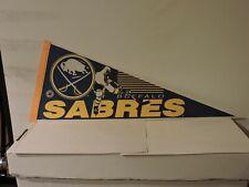 NHL Buffalo Sabres Vintage 1990's Player Shooter Logo Hockey Pennant