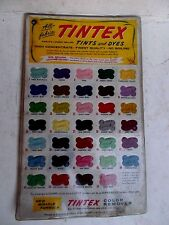 Vintage- TINTEX TINTS AND DYES LAMINTED COLOR CHART