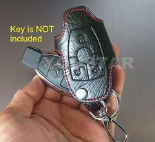 US STOCK Genuine LEATHER Remote Key Fob Red Stitching for Mercedes Benz AMG