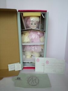 "MARIE OSMOND PORCELAIN DOLL CRYSTALLINE 18"" STANDING NEW AND NRFB COA #797"