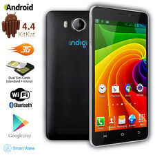 "Indigi Unlocked 3G Smart Phone Android 4.4 Kitkat 5.0"" Multi-Touch Screen ~Black"