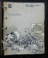 CUMMINS B-SERIES 6B5.9 6BT5.9 6BTA5.9 DIESEL ENGINE PARTS MANUAL CATALOG ACCEPT