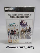 FINAL FANTASY III & IV 3 4 DOUBLE PACK - PC - NUOVO NEW
