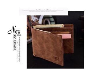 Slim Bifold Genuine Leather Mens Wallet Pocket Credit Card ID Coin Holder