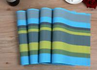 Placemats Woven PVC Washable Dinner Table Mat Heat Resistant 17.7''X11.8'' 6pcs
