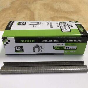 Phoenix Fasteners Upholstery Staple C04 3//8 Crown X 1//4 Leg Galvanized Staple 22 Gauge 71 Series 10,000 Per Box