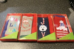 Hue Women's Joy Holiday Footsie Socks 8 Pair Gift Box Set NWT One Size 1 w/O Box
