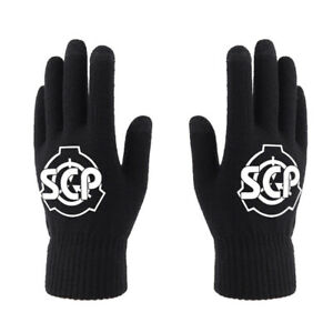 New Anime SCP Foundation Touch Screen Gloves Full Finger Gloves Winter Cosplay
