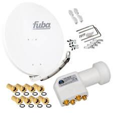 FUBA DAA 850 Alu SAT Antenne Spiegel 85cm Schüssel + HD Premium Quad HB LNB 4K