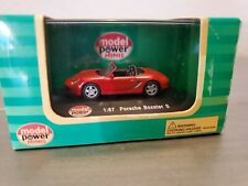 Model Power Minis Porsche Boxster S 1:87 Die Cast Car HO scale - New red