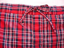 NAUTICA SLEEPWEAR Red Plaid 100% Cotton Long Pajama Lounge Pants Mens Sz L New