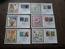 FRANCE - 6 enveloppes 1er jour 21/10/1993 (le plaisir d ecrire) (cy21) french