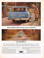 Vintage 1966 Magazine Ad Chevrolet Chevy II V8 Has a 195 Horsepower Engine Now