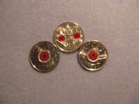 Canada Poppy Coins Set Of 3 Different Poppy Coins.