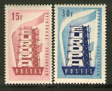 TIMBRE N° 1076-1077 NEUF * *  GOM. ORIG. - PAIRE EUROPA 1956