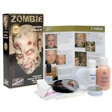 Mehron Zombie Flesh Pro Make up Kit  Stage Costume Halloween Pro Walk Undead