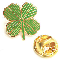 Ireland 4 Leaf Clover Lucky Charm Enamel Lapel Pin Badge