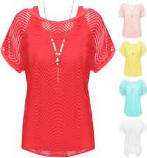 T-shirt, maglie e camicie da donna multicolore viscosa a girocollo