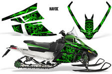Arctic Cat F Series Sled Wrap Snowmobile Graphics Kit Stickers Decals HAVOC GRN