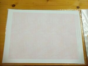 1 Sheet Of 10 X Pink Marble Cardboard Business Cards For Home Printing