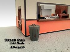 1/18-Pair (2) of Trash Cans w/lids for your shop/garage/diorama-American Diorama