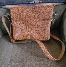 GTM-22 Gun Tote'n Mamas Tooled American Cowhide Leather Concealed Carry Purse