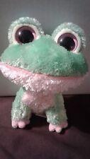 """TY - BEANIE BOO - 2009 Kiwi the Frog - 6"""" - Rare Looped Tag - No Hang Tag"""