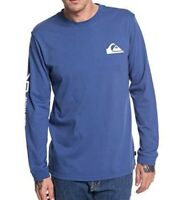 QUIKSILVER MENS T SHIRT.NEW QUIK COLLAGE BLUE LONG SLEEVED TOP CREW TEE 8W 88 BN
