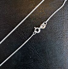 """Sterling Silver 18"""" Diamond cut curb chain. Stamped 925. Made in UK"""