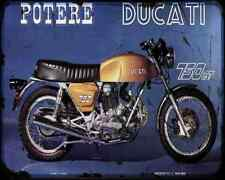 Ducati 750Gt 71 2 A4 metal sign moto Vintage Aged