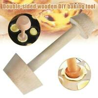 1Pac Egg Tart-Tamper Double Side Wooden Pastry Pusher Baking Mold Kitchen Tools
