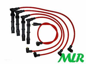 FORD SIERRA ESCORT RS COSWORTH 4WD 4X4 8MM RED SILICONE IGNITION HT LEADS BJ
