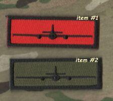 """USAF LOCKHEED U-2 SPY PLANE IN GOD WE TRUST MONITOR ALL OTHERS 1X3"""" 2-TAB: #1+#2"""