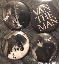 Van Morrison 2018 Tour 4 Button Pin Set! Astral Weeks Bob Dylan Paul Simon Shirt